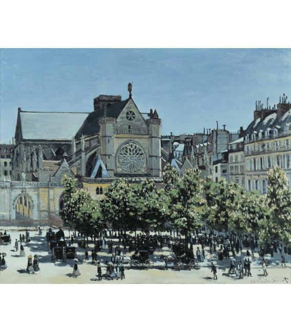 Stampa su tela: Claude Monet - St. Germain l'Auxerrois, Parigi