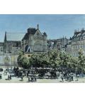 Claude Monet - St. Germain l'Auxerrois, Parigi. Stampa su tela