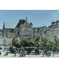 Printing on canvas: Claude Monet - St. Germain l'Auxerrois