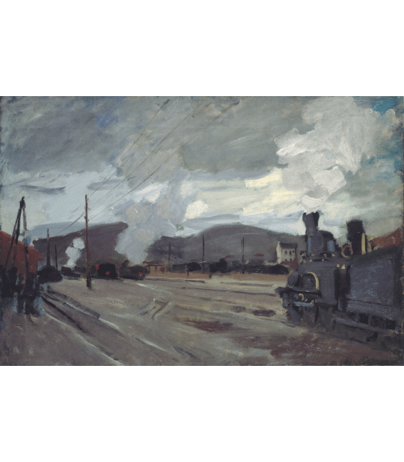 Printing on canvas: Claude Monet - Argenteuil Station
