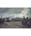 Claude Monet - Argenteuil Station. Printing on canvas