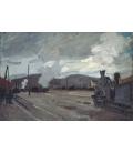 Claude Monet - Stazione di Argenteuil. Stampa su tela