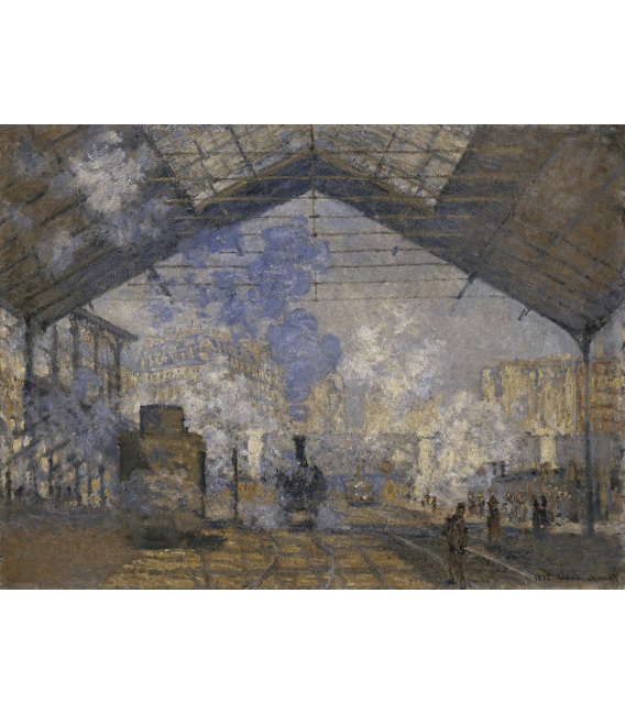 Printing on canvas: Claude Monet - Saint-Lazare Station
