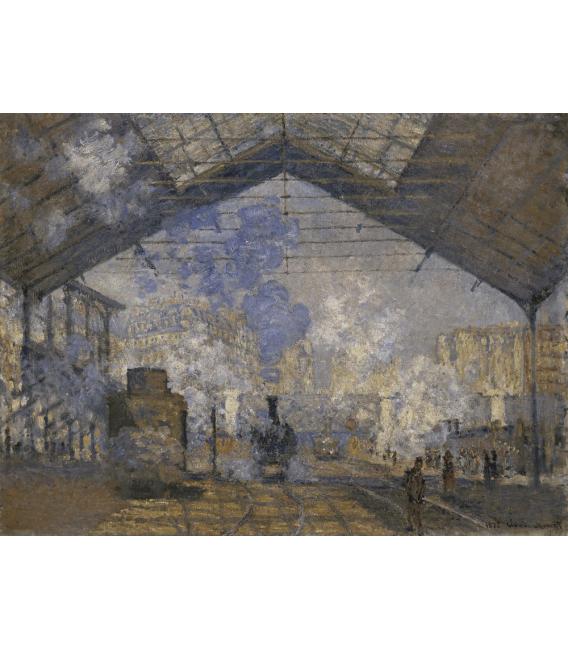 Stampa su tela: Claude Monet - Stazione di Saint-Lazare