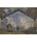 Claude Monet - Saint-Lazare Station. Printing on canvas