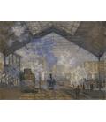 Claude Monet - Stazione di Saint-Lazare. Stampa su tela