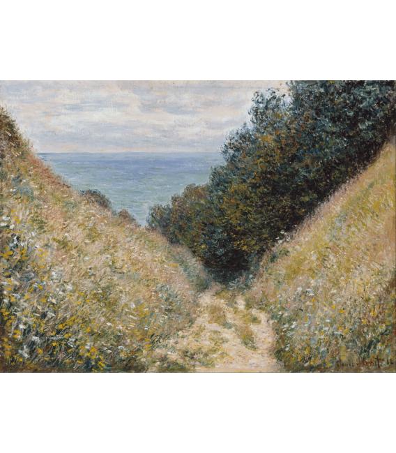 Stampa su tela: Claude Monet - Strada a La Cavée, Pourville