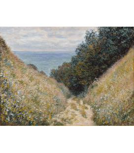Printing on canvas: Claude Monet - The Road to Cavée