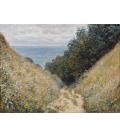 Claude Monet - Strada a La Cavée, Pourville. Stampa su tela