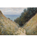Claude Monet - The Road to Cavée, Pourville. Printing on canvas