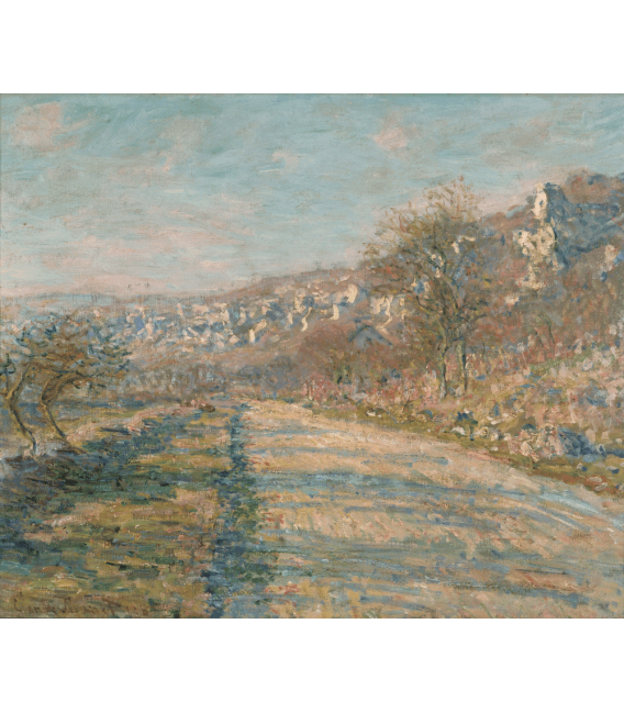Stampa su tela: Claude Monet - Strada di La Roche-Guyon