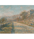 Claude Monet - Road of La Roche-Guyon. Printing on canvas