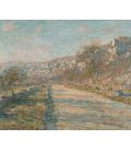 Claude Monet - Strada di La Roche-Guyon. Stampa su tela