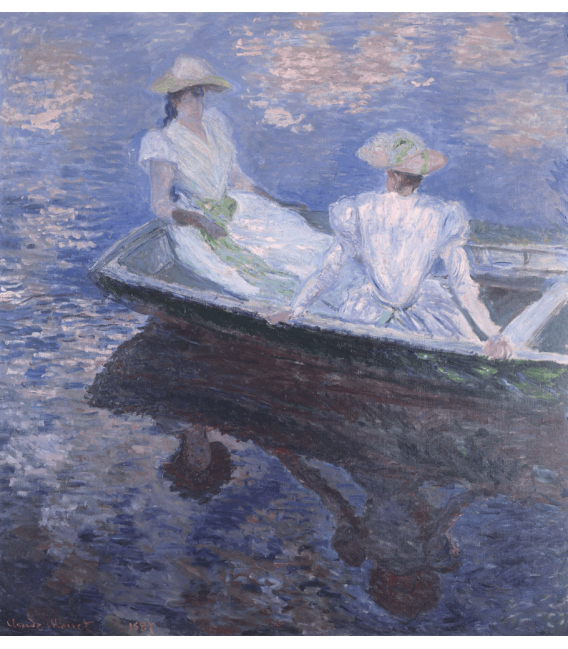 Printing on canvas: Claude Monet - On the boat