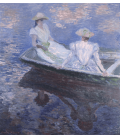 Claude Monet - On the boat. Printing on canvas
