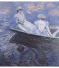 Claude Monet - Sulla barca. Stampa su tela