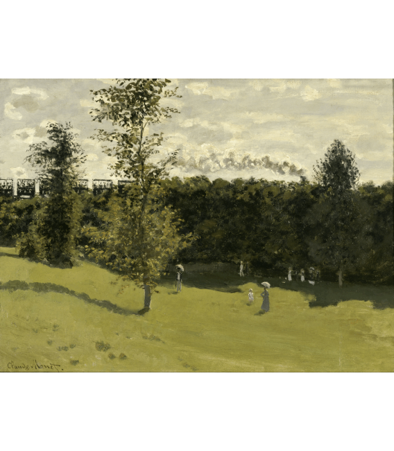 Printing on canvas: Claude Monet - Train in the countryside