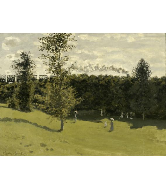 Stampa su tela: Claude Monet - Treno in campagna