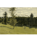 Claude Monet - Treno in campagna. Stampa su tela