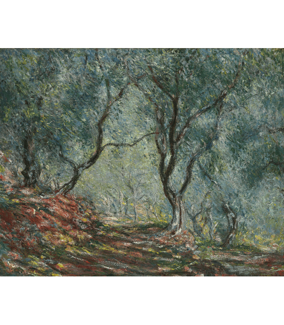 Printing on canvas: Claude Monet - Olives in the garden Moreno
