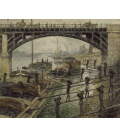 Claude Monet - Uomini del carbone (les déchargeurs de charbon). Stampa su tela