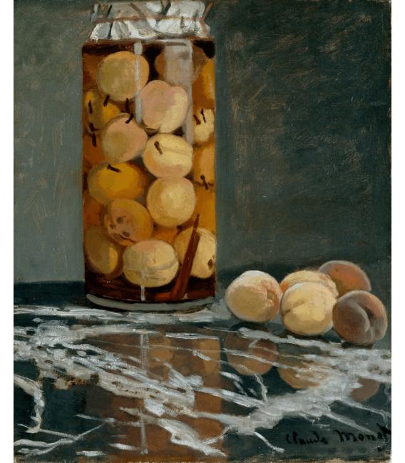 Stampa su tela: Claude Monet - Vaso di Pesche