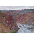 Printing on canvas: Claude Monet - Valley of the Creuse (Gray Day)