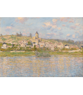 Claude Monet - Vétheuil. Stampa su tela