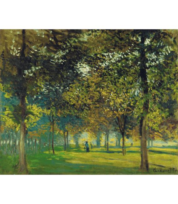 Stampa su tela: Claude Monet - Vicolo del quartiere fieristico ad Argenteuil