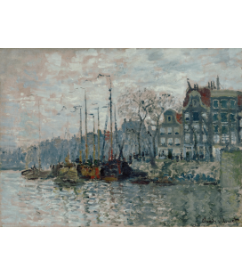 Printing on canvas: Claude Monet - View of the Prins Hendrikkade and the Kromme Waal in Amsterdam