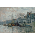 Claude Monet - View of the Prins Hendrikkade and the Kromme Waal in Amsterdam. Printing on canvas