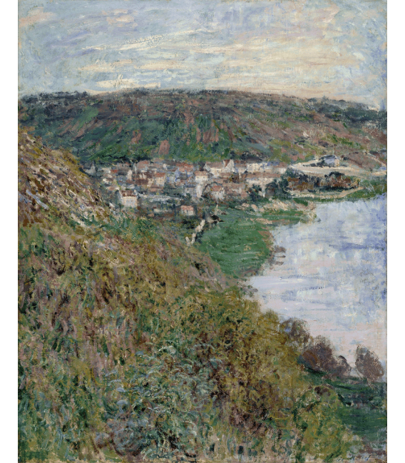 Printing on canvas: Claude Monet - View of Vetheuil