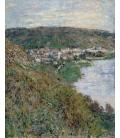 Claude Monet - Vista di Vétheuil. Stampa su tela