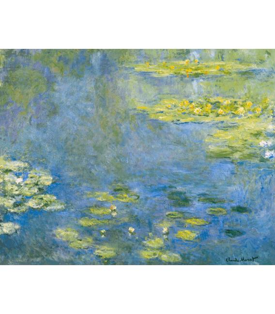 Stampa su tela: Claude Monet - Waterlilies