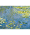Claude Monet - Waterlilies. Stampa su tela