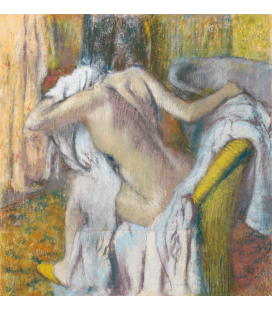 Stampa su tela: Edgar Degas - After the Bath, Woman drying herself