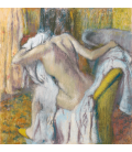 Edgar Degas - After the Bath, Woman drying herself. Printing on canvas