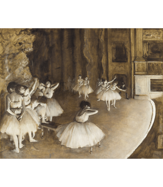 Printing on canvas: Edgar Degas - Ballet Rehearsal on stage