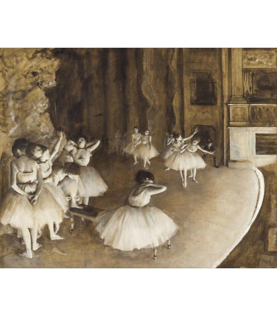 Stampa su tela: Edgar Degas - Ballet Rehearsal on stage