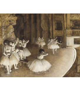 Edgar Degas - Ballet Rehearsal on stage. Printing on canvas