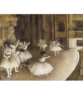 Edgar Degas - Prove di Balletto sul Palco. Stampa su tela