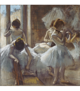 Printing on canvas: Edgar Degas - Dancers