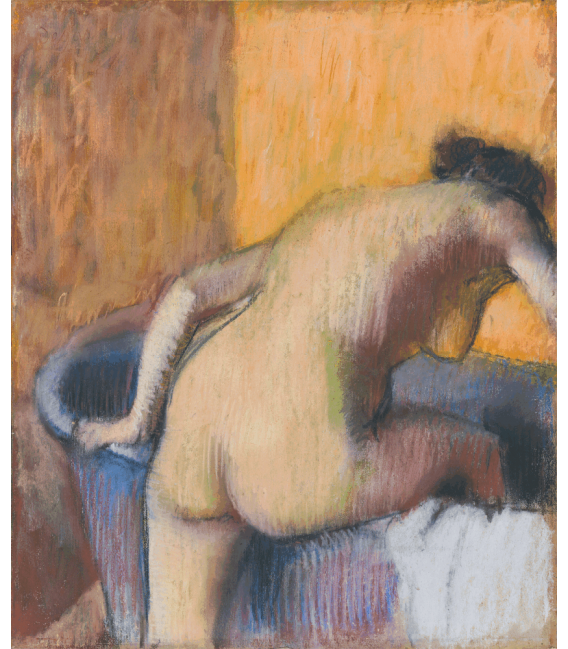 Printing on canvas: Edgar Degas - Bather Stepping into a Tub