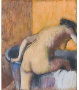 Edgar Degas - Bather Stepping into a Tub. Printing on canvas