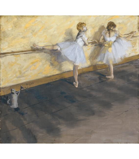 Stampa su tela: Edgar Degas - Dancers Practicing at the Barre