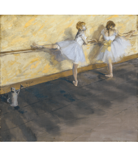 Stampa su tela: Edgar Degas - Dancers Practicing at the Barre