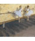 Edgar Degas - Ballerini che si allenano alla sbarra. Stampa su tela