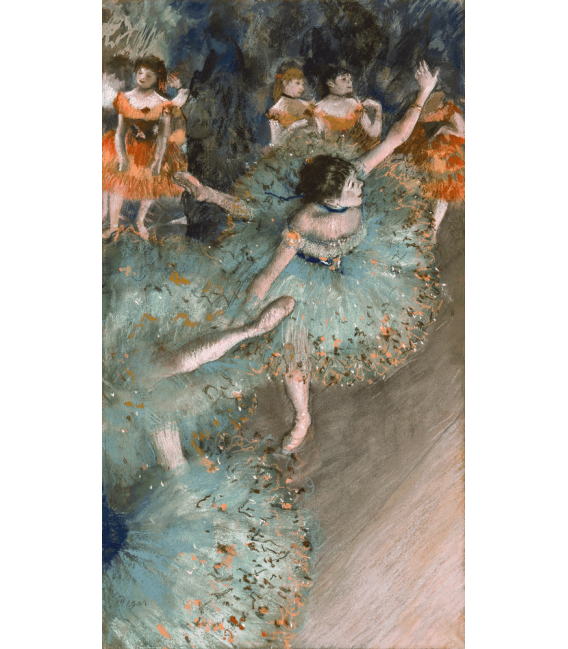 Stampa su tela: Edgar Degas - Danseuse basculant (Danseuse verte)