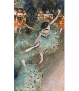 Edgar Degas - Rocking Dancer (Green Dancer). Stampa su tela