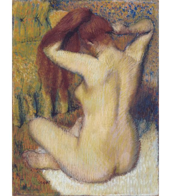 Stampa su tela: Edgar Degas - Donna che si pettina